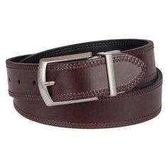 Dickies Men's Cut Edge Reversible Belt - Black/Brown 34