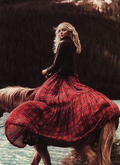 long skirt & horse