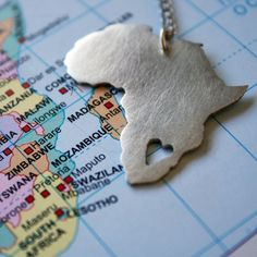 African Pendant Africa Necklace Continent Pendant sterling silver Map of Africa African Love from LolaAndCash on Etsy. Africa Map, Out Of Africa, Africa Travel, South Africa, Africa Continent, Maputo, Argent Sterling, Sterling Silver, Oxidized Silver