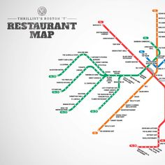 Your first-ever #Boston T restaurant map. Find the best places to eat while riding the T.