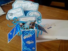 Pop up father's day card using free stamps in docrafts magazine