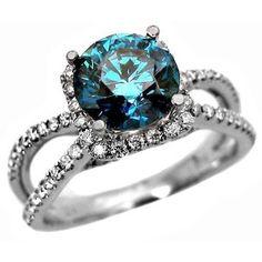 gorgeous blue diamond ring