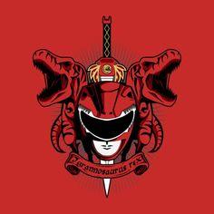 RUSSEUS TYRANNOSAURUS REX T-Shirt $12 Power Rangers tee at Once Upon a Tee!