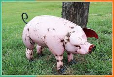Martial Arts Weapons, Martial Arts Styles, Japanese Karate, Dog Yard, Metal Yard Art, Pig Farming, Chickens And Roosters, Outdoor Sculpture, Pigs
