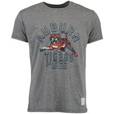 Men's Original Retro Brand Heather Gray Auburn Tigers Vintage Est. Tri-Blend T-Shirt