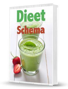 Dieet schema met groene smoothies