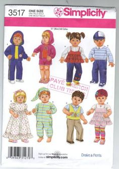 Free Copy of Pattern - Simplicity 3517--Will these fit the Animator dolls?