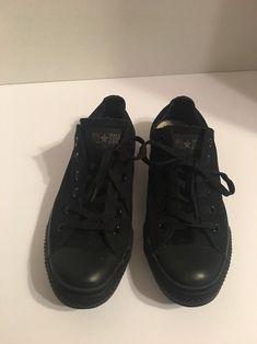 361db296dd7c29 Converse Chuck Taylor Low Top 7 Men 9 Wom Black Canvas All Star Shoe Unisex