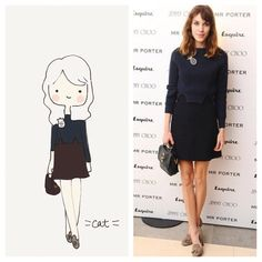 Alexa Chung. Solid. catplusmouse