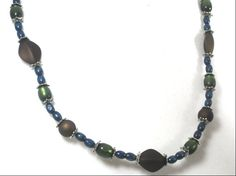 Multicolor Satin Beaded Necklace by cynhumphrey on Etsy, $18.99