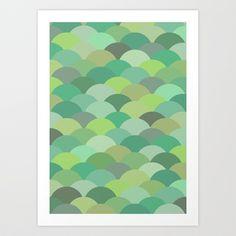 Circles Abstract 10 Art Print by Kimsey Price - $15.60