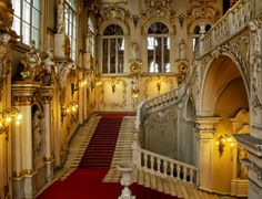 Hermitage- Grand Staircase.... this is even more stunning in person.  Had the privilege to visit in 2007