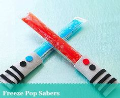 4th of July Party Snack Idea: Freeze Pop Sabers