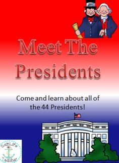 Presidents Day is coming up and this is a great activity to celebrate it!   Come along and meet the 44 Presidents of The United State of America!   Watch the powerpoint to learn about each president. Like how long their term was, their birthdate and birth state, their vice president, facts, and more!   Also students can follow along with the powerpoint with a workbook! Students fill in the information on each president in the workbook.