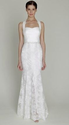 Sweetheart Sheath Wedding Dress  with Natural Waist in Lace. Bridal Gown Style Number:32610107- simple but elegant