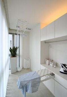 White Laundry Rooms, Modern Laundry Rooms, Laundry Room Layouts, Laundry Room Remodel, Laundry Decor, Laundry Room Design, Home Room Design, Living Room Designs, House Design
