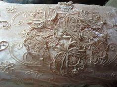 Beautiful Tambour Lace pillow~❥
