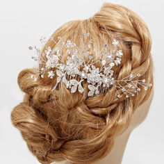 Crystal Madeline Hair Comb on Emma Stine Limited