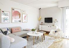 Decoração de sala de estar feminina