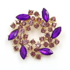 WEIMANJINGDIAN Brand Beautiful Colored Crystal Rhinestones Fashion Garland  Flower Brooch Pins for Lady in Various Colors 36ff5760f46a