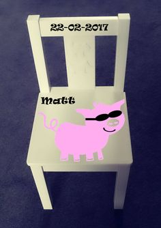 Personalized kids chair - Pig by Cynplygifts on Etsy
