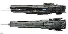 SPARTH - Forward Unto Dawn spaceship. Halo 4. Microsoft -...