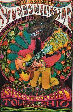 Steppenwolf concert poster, 1960s,