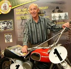 """Malcolm Smith with the Husqvarna 400 Cross from the movie """"On any Sunday"""""""