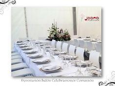 Centro de mesa para Comunión, en el salón de celebraciones