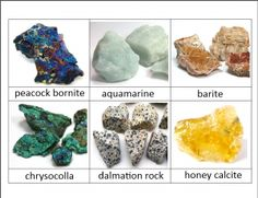 Printable Rocks and Minerals Classified Cards