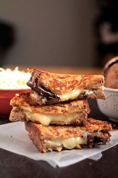 Yes please: Thyme Roasted Mushroom Grilled Cheese
