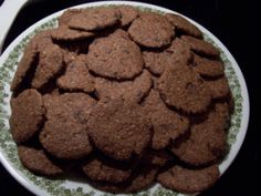 lots of carob cookies Cookies, Eat, Desserts, Food, Crack Crackers, Tailgate Desserts, Biscuits, Meal, Cookie Recipes