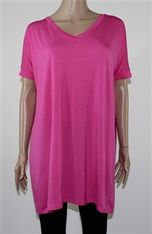 Piko Dress (Pink), flowy, comy, comfortable, cute, casual, tunic, v-neck, Piper Lubbock, sleeves