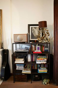 2. You think that just because it's on a bookshelf, it's not clutter.This is sadly not true. Helping your shit achieve off-the-floor status is only considered next-level in the bro bible of decorating. (Next-next-level: recycling your bong water. Actually not a bad idea!) #refinery29 http://www.refinery29.com/common-apartment-decor-mistakes#slide-3