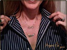 Nuestros Nombres juntos hasta el Infinito http://www.joyas4you.com/collar-infinito/329-collar-infinito-con-inicial-en-plata-de-ley.html