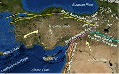 Geography of Turkey - Wikipedia, the free encyclopedia Earthquake Map, San Andreas Fault, Science Anchor Charts, Eurasian Steppe, Semitic Languages, United States Geological Survey, Blue Green Eyes, New Scientist, Geography