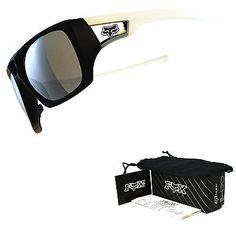 Fox by Oakley The Remit Sunglasses Matte Black & White Chrome Iridium FX9017-04