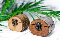 Natural Log Ring Box made from a branch by Jaccob McKay Sustainably sourced wood