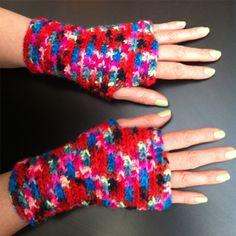 Datapulsvanter - Happy Knitting AS Fingerless Gloves, Arm Warmers, Knitting, Threading, Mittens, Cuffs, Tricot, Fingerless Mitts, Stricken