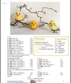 Amigurumi Little Birds Free Crochet Pattern – Crochet. Crochet Teddy Bear Pattern, Crochet Rabbit, Crochet Birds, Crochet Wool, Bead Crochet Rope, Easter Crochet, Crochet Patterns Amigurumi, Knitting Patterns, Free Crochet