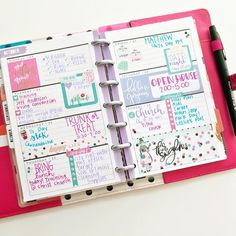 """Heather Kell (@kellofaplan) on Instagram: """"I'm a little obsessed with how the mini Glam Girl stickers helped create this adorable spread in my…"""" Happy Planner"""