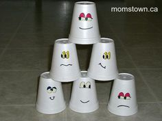 Hosting a Halloween party for preschoolers or toddlers does not have to be scary. There are many activities that are easy to set up, relatively mess free, and not so spooky, including this ghost bowling game.
