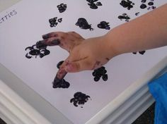 Blackberry Finger Painting:   An activity inspired by reading the children's book Mr McGee and the Blackberry Jam by Pamela Allen