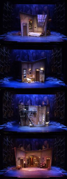 Te wild party college conservatory of music ccm scenic design mark halpin director aubrey berg lighting design steve mack