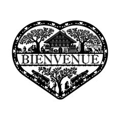 "Coeur Poya ""Bienvenue"" Silhouette Studio, Silhouette Cameo, Le Gui, Swiss Alps, Kirigami, Paper Cutting, Switzerland, Paper Art, Cricut"