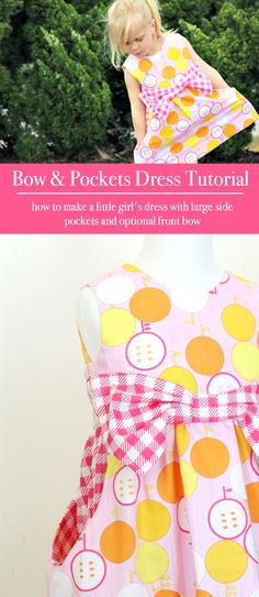 Bow and Pockets Dress Tutorial