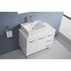 Virtu USA Tilda 36 in. Vanity in White with Stone Vanity Top in White and Mirror-UM-3069-S-WH - The Home Depot