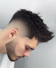 Best 44 Quiff Haircuts For Men 2019 [Top Styles Covered] Spiky Quiff With Beard - Best Quiff Haircut Mens Hairstyles With Beard, Quiff Hairstyles, Hair And Beard Styles, Haircuts For Men, Curly Hair Styles, Cool Hairstyles, Hair Style For Men, Short Hairstyles For Men, Quiff Haircut