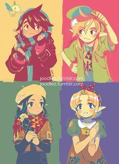 Ravio, Link, Hilda, and Zelda