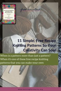 When is a pattern more than just a pattern? When it's one of these free recipe knitting patterns that you can make your own ... Read More about  11 Simple, Free Recipe Knitting Patterns So Your Creativity Can Soar - Knitting for Charity Sock Recipe, Recipe Link, Love Knitting Patterns, Knitting For Charity, Dk Weight Yarn, Types Of Yarn, How To Make Notes, Knit Or Crochet